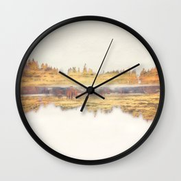 Forest Gold - Abstract Photography Wall Clock