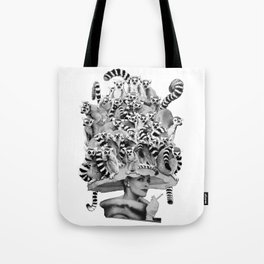 Her Ring-tailed Lemur Hat Tote Bag