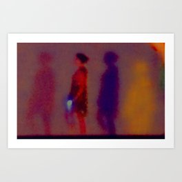 Walking In The Dark Art Print