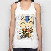 aang Tank Tops featuring PowerPuff Aang by auroranq