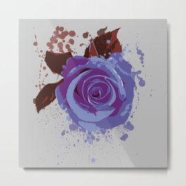 Splatter Rose Metal Print