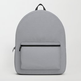 Ultra Pale Grey Solid Color Parable to Jolie Paints French Grey Backpack