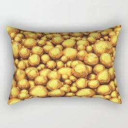 Raw gold Rectangular Pillow