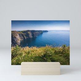 Sunny Cliffs of Moher, Ireland Mini Art Print