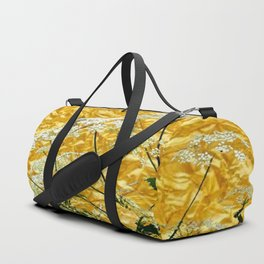 GOLDEN LACE FLOWERS FROM SOCIETY6 BY SHARLESART. Duffle Bag