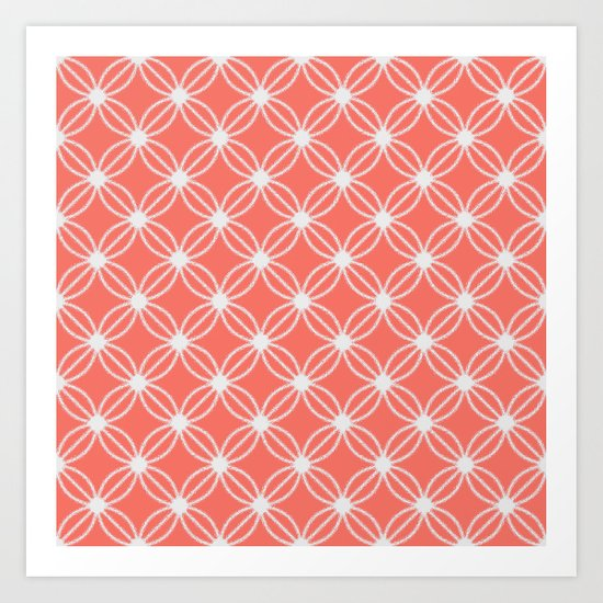 Abstract Circle Dots Peach II Art Print