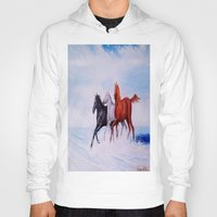 horses Hoodies featuring horses by shannon's art space