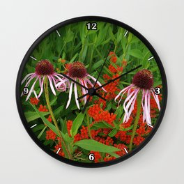 Coneflowers and Butterfly weed 7605 Wall Clock