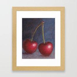 Cherries - Oil Painting Framed Art Print