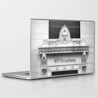 broadway Laptop & iPad Skins featuring 100 Broadway by Jon Cain