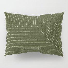Lines (Olive) Pillow Sham