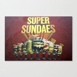 Super Sundaes Canvas Print