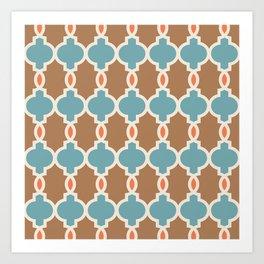 Hollywood Regency Trellis Pattern 642 Art Print