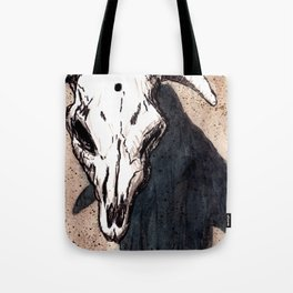 Corrales Cow Skull, Bullet Hole Tote Bag