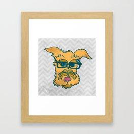 Mack The Cool Nerd Terrier Dog Framed Art Print