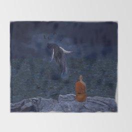 La preciosa mente de un monje - The beautiful mind of a monk Throw Blanket
