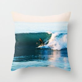 Warm Surf Throw Pillow