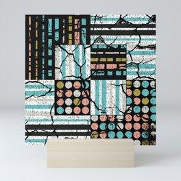 Distressed pattern Mini Art Print