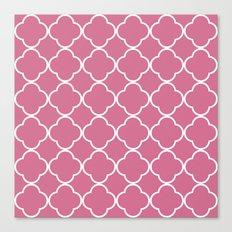 Quatrefoil Bubblegum Canvas Print