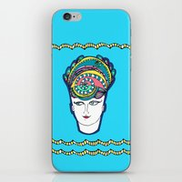 headdress iPhone & iPod Skins featuring Headdress by G.L.BEANS