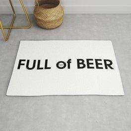Full of Beer - Comic Fun art Rug