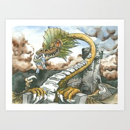 Tower Top Climb Art Print
