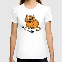 my mad fat diary T-shirts featuring FAT CAT by Alberto Corradi