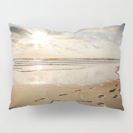 Footprints in the Sand Pillow Sham
