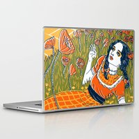 dorothy Laptop & iPad Skins featuring Dorothy in the Poppy Field by Julia Minamata