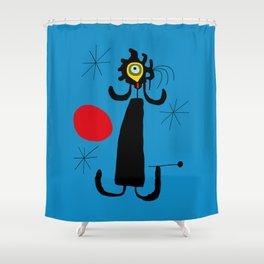 Art work inspired to J. Mirò (n.4) Shower Curtain