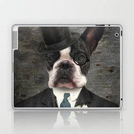 Sir Duncan - Boston Terrier Portrait Laptop & iPad Skin