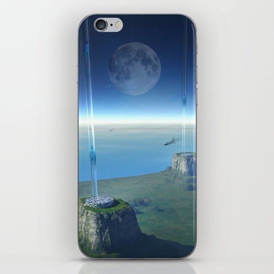 space elevator - babylon transfer station  iPhone & iPod Skin