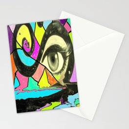 Happiness and suffering Stationery Cards