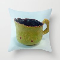 drink Throw Pillows featuring Drink by Han Caroline