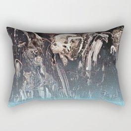 Blue Glow // abstract texture painting modern Rectangular Pillow
