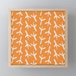 Simple Bird Footprints Pattern Framed Mini Art Print