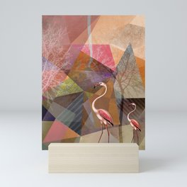 FLAMINGOS P23-C Mini Art Print