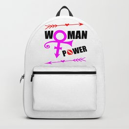 woman power funny feminist quote Backpack