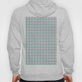 Geo Triangles in Pink + Atomic Mint Hoody