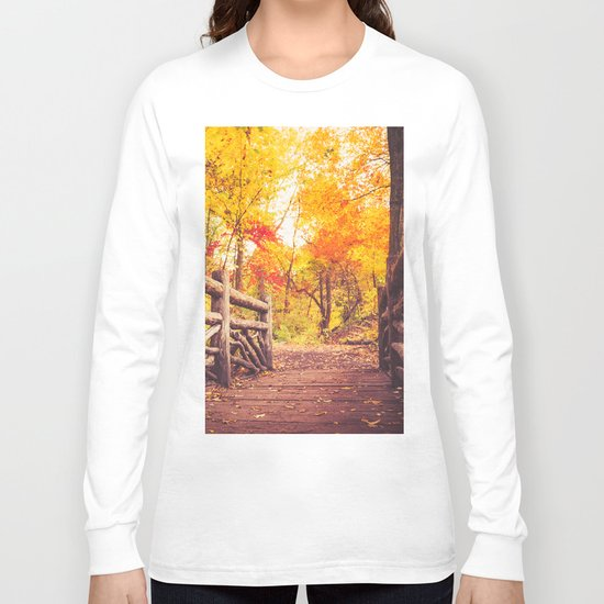 New York City Autumn in Central Park Long Sleeve T-shirt