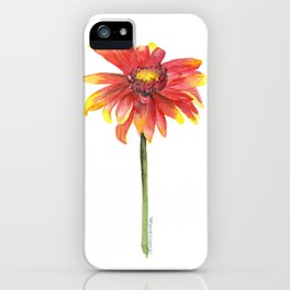 Indian Blanket Wildflower Watercolor iPhone Case