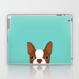 Red Boston Terrier Laptop & iPad Skin