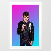 alex turner Art Prints featuring Alex Turner! by Trash Boat