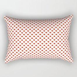 '80s Hearts - Red. Back to Basics Rectangular Pillow