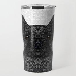 French Bulldog in black Travel Mug