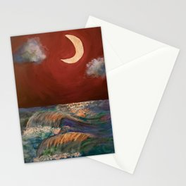 Moonlit Sea + Donation for Marine Conservation Stationery Cards