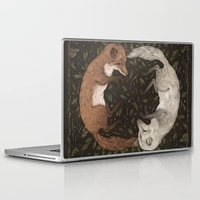 foxes Laptop & iPad Skins featuring Foxes by Jessica Roux