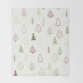 Winter Trees in Snowy Day Throw Blanket