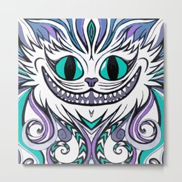 Chesire Smile Metal Print