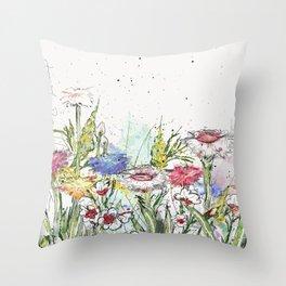 Wild flowers Throw Pillow